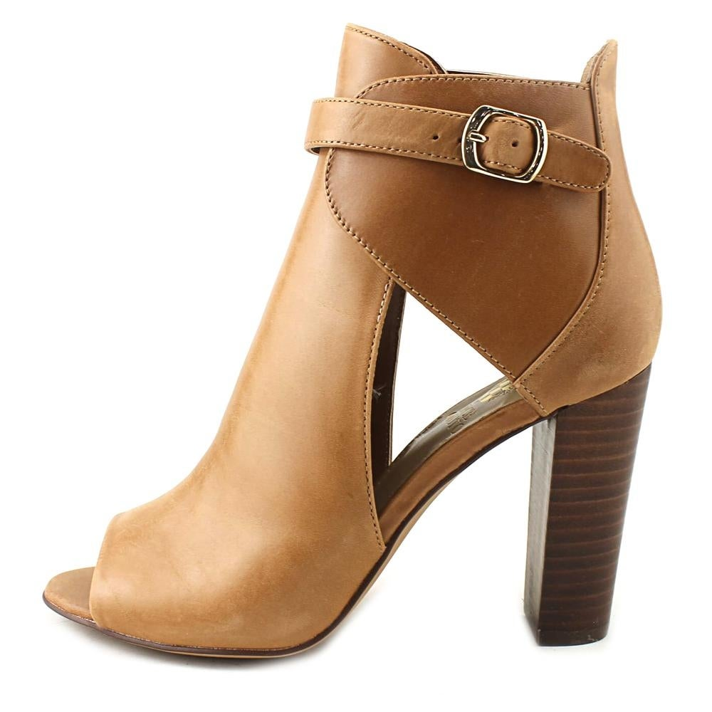8d9a67d7738 Shop Vince Camuto Venica Women Open-Toe Leather Tan Ankle Boot - Free  Shipping Today - Overstock - 19669011