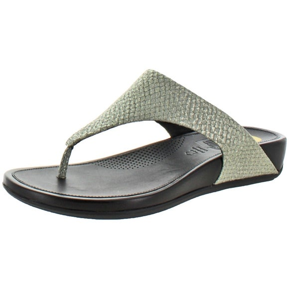 bcd995cdc8d2 Shop FitFlop Banda Women s Leather Toning Thong Sandals - Free Shipping On  Orders Over  45 - Overstock.com - 15948228