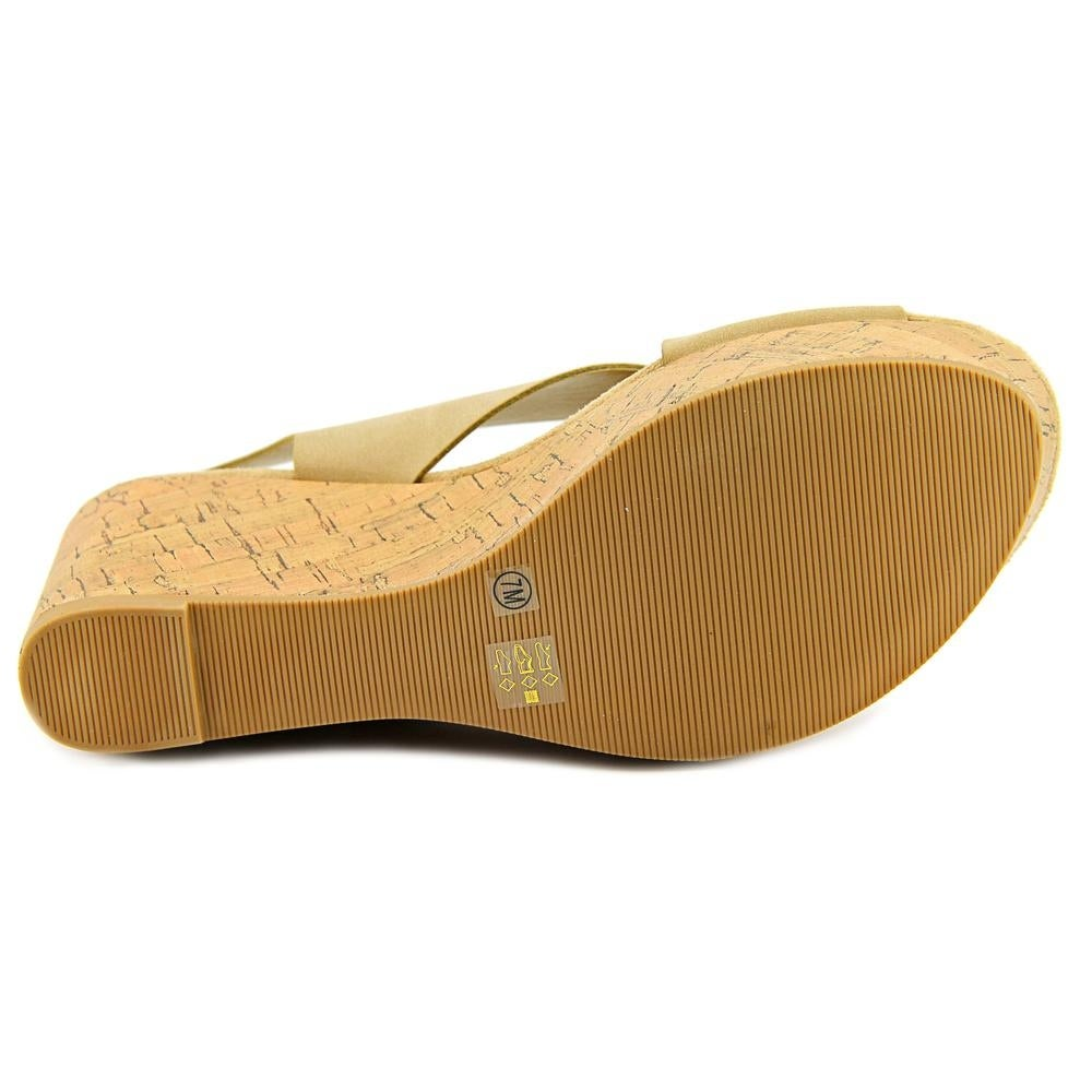 918286c03 Shop CL By Laundry Dream Girl Women Open Toe Synthetic Nude Wedge Sandal -  Free Shipping On Orders Over  45 - Overstock - 17935113