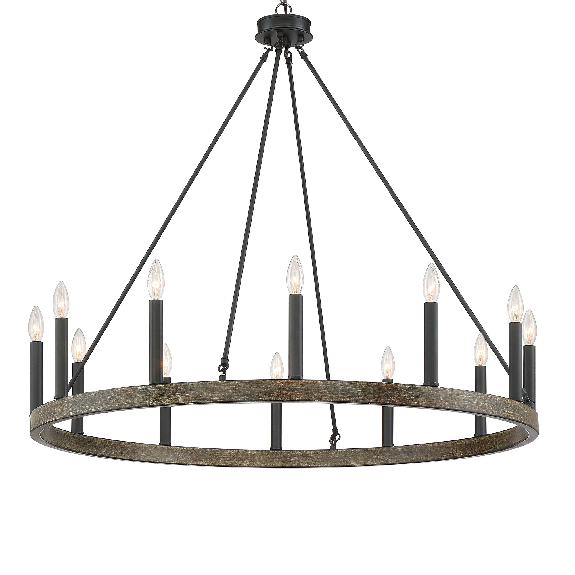 The Gray Barn Highclere 12 Light Wagon Wheel Chandelier On Sale Overstock 28487493