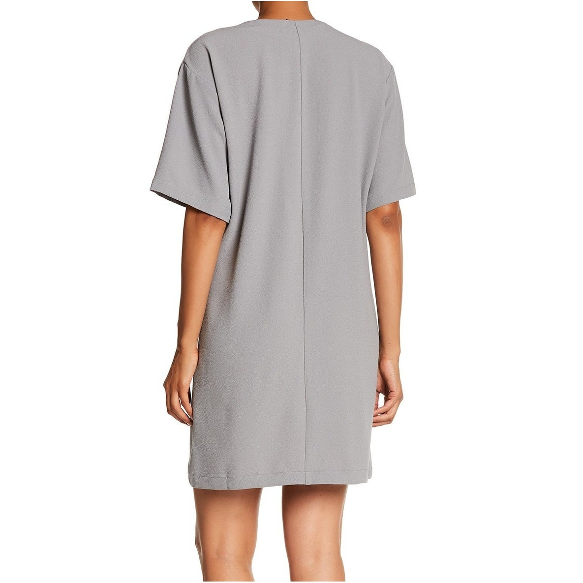 14a452cd32 Shop Bobeau Gray Womens Size Small S V-Neck Surplice Crepe Shift Dress -  Free Shipping On Orders Over $45 - Overstock - 28508305