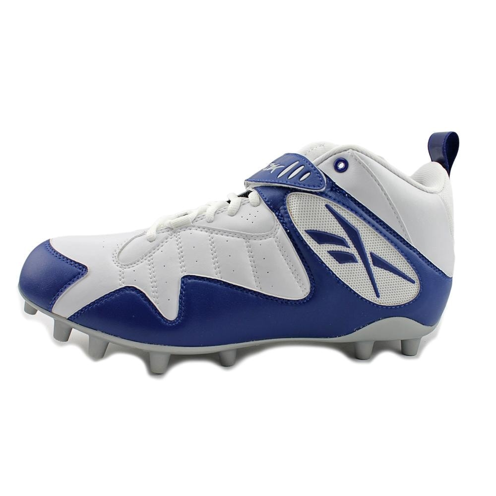 4975cf1be Shop Reebok Pro All Out One Mid MP Men White Dark Royal Cleats - Free  Shipping On Orders Over  45 - Overstock - 15804469