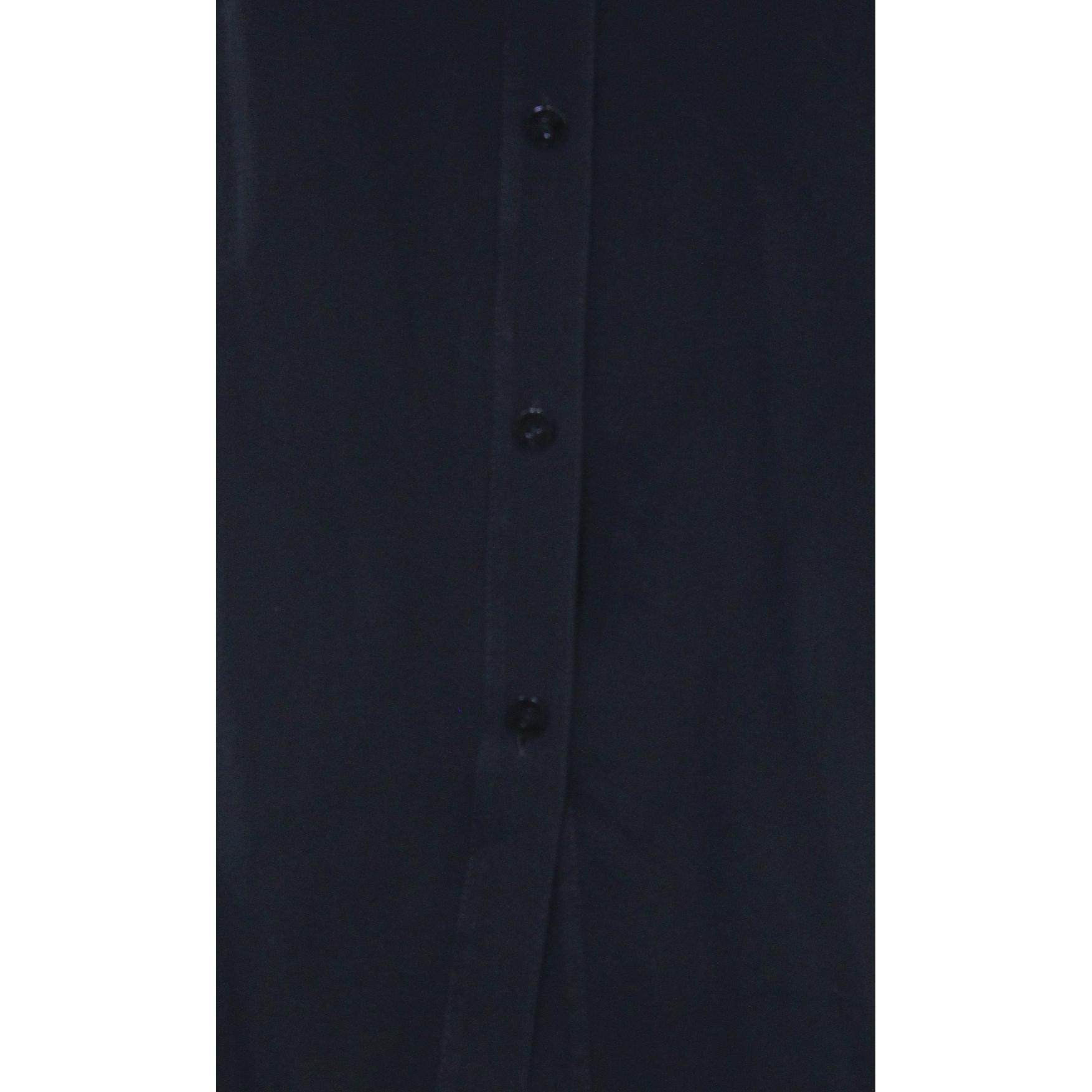 fcfc5042525 Shop Eileen Fisher NEW Black Women Small S Mandarin Collar Silk Tunic  Blouse - Free Shipping Today - Overstock - 19469786