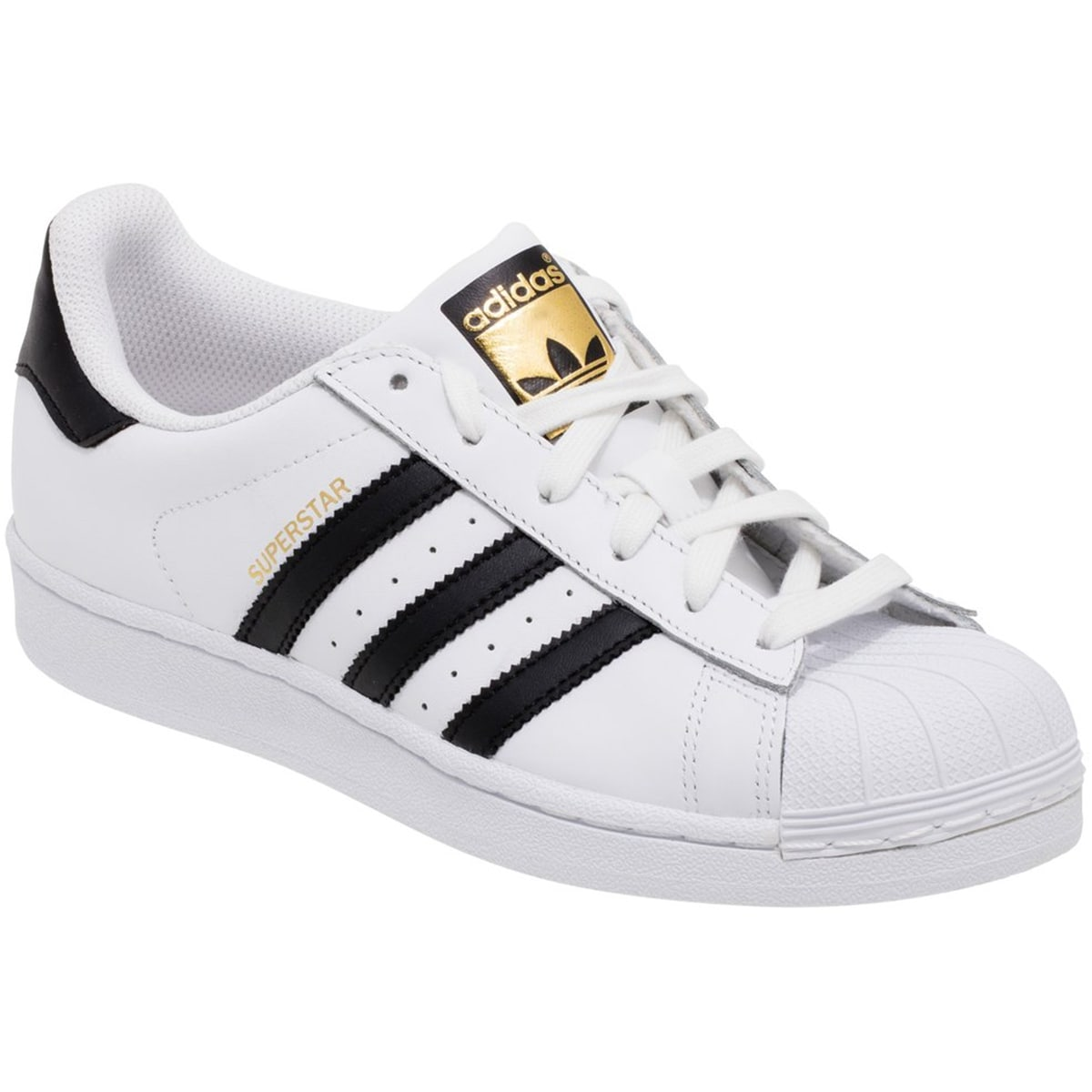 finest selection 448d1 dbbfe Shop Adidas Superstar Rubber Shell Toe Shoes - WhiteBlackWhite - Free  Shipping Today - Overstock - 25636506