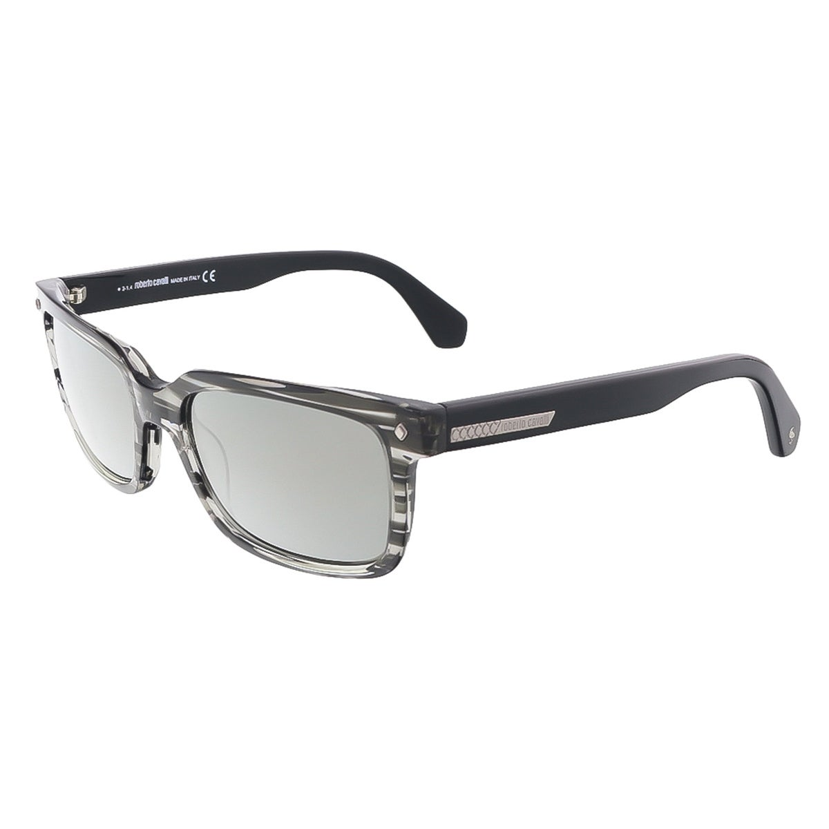 9a3a3740c6377 Shop Roberto Cavalli RC 834 S 20B Black Rectangle Sunglasses - Free ...