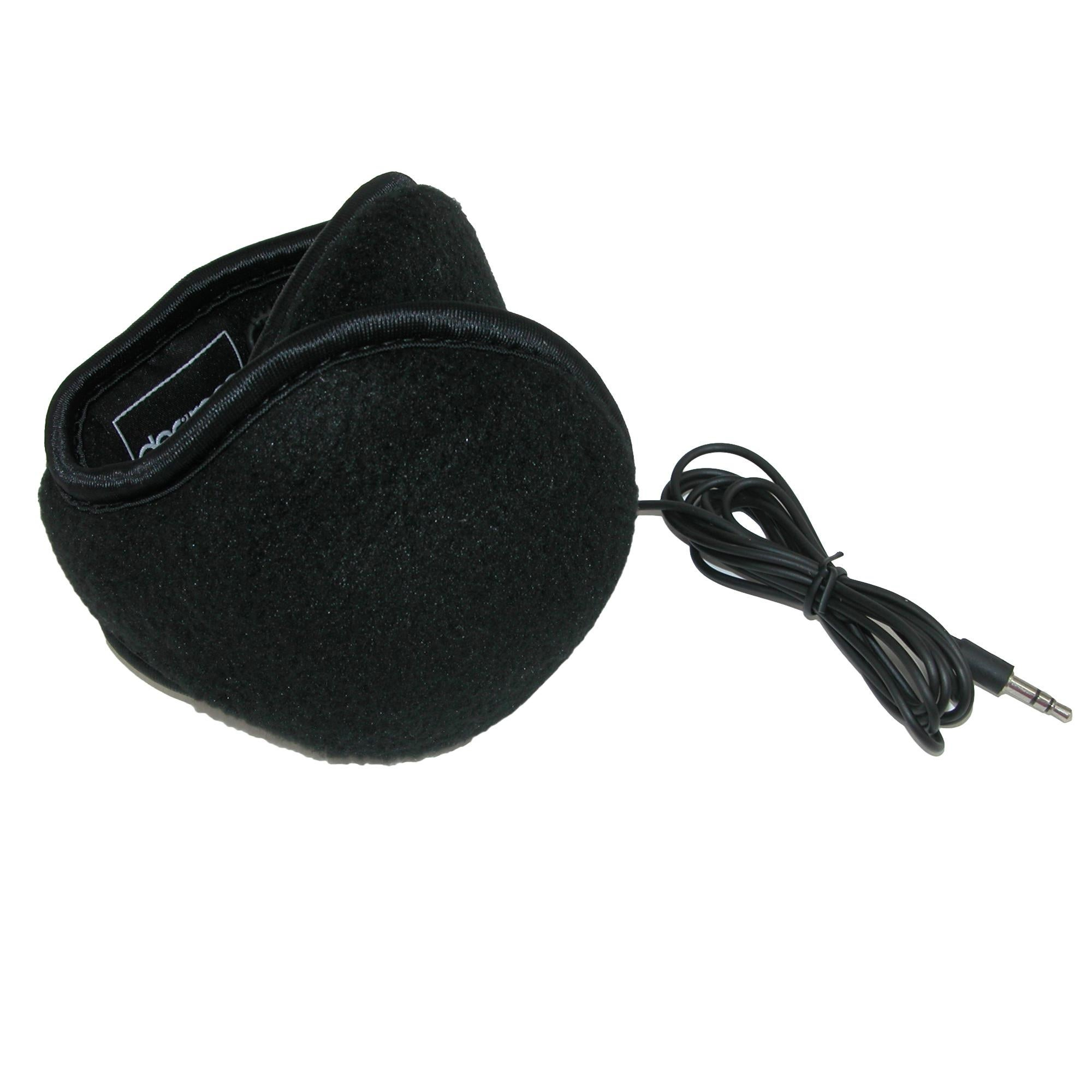 Black Degrees by 180s Mens Fleece Wrap Around Earmuffs