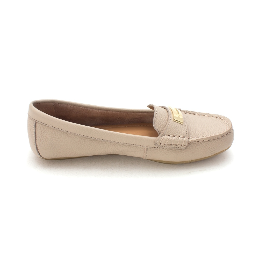1b7da2d1275 Shop Calvin Klein Womens LAVIDA PEBBLE GRAIN Leather Closed Toe Loafers -  6.5 - Free Shipping On Orders Over  45 - Overstock - 21719482