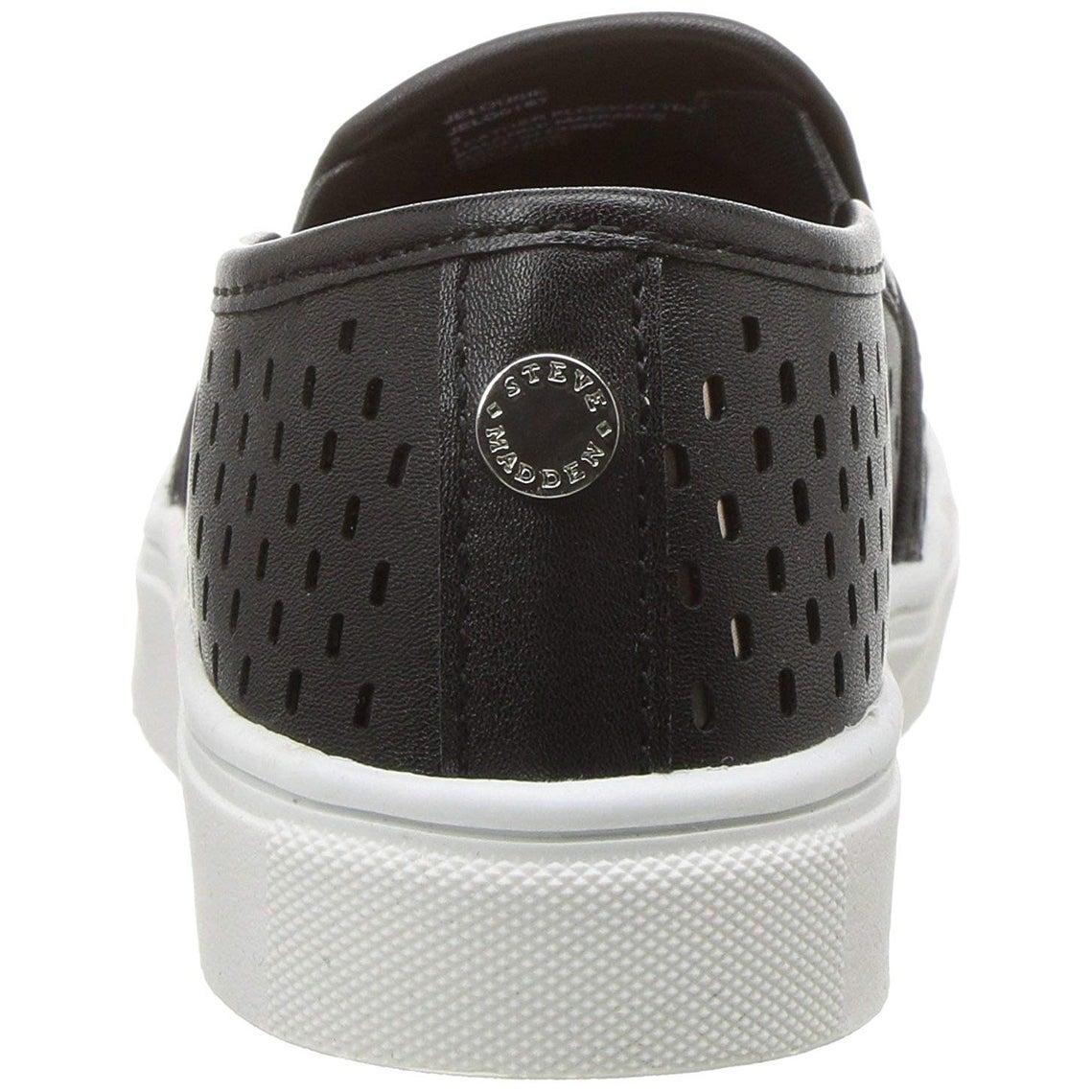 310a006d011 Kids Steve Madden Girls Jelouise Leather Low Top Slip On Fashion Sneaker