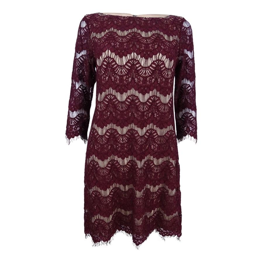 edbfcb643fa9 Shop Jessica Howard Women's Petite Lace Illusion Sheath Dress - Free ...