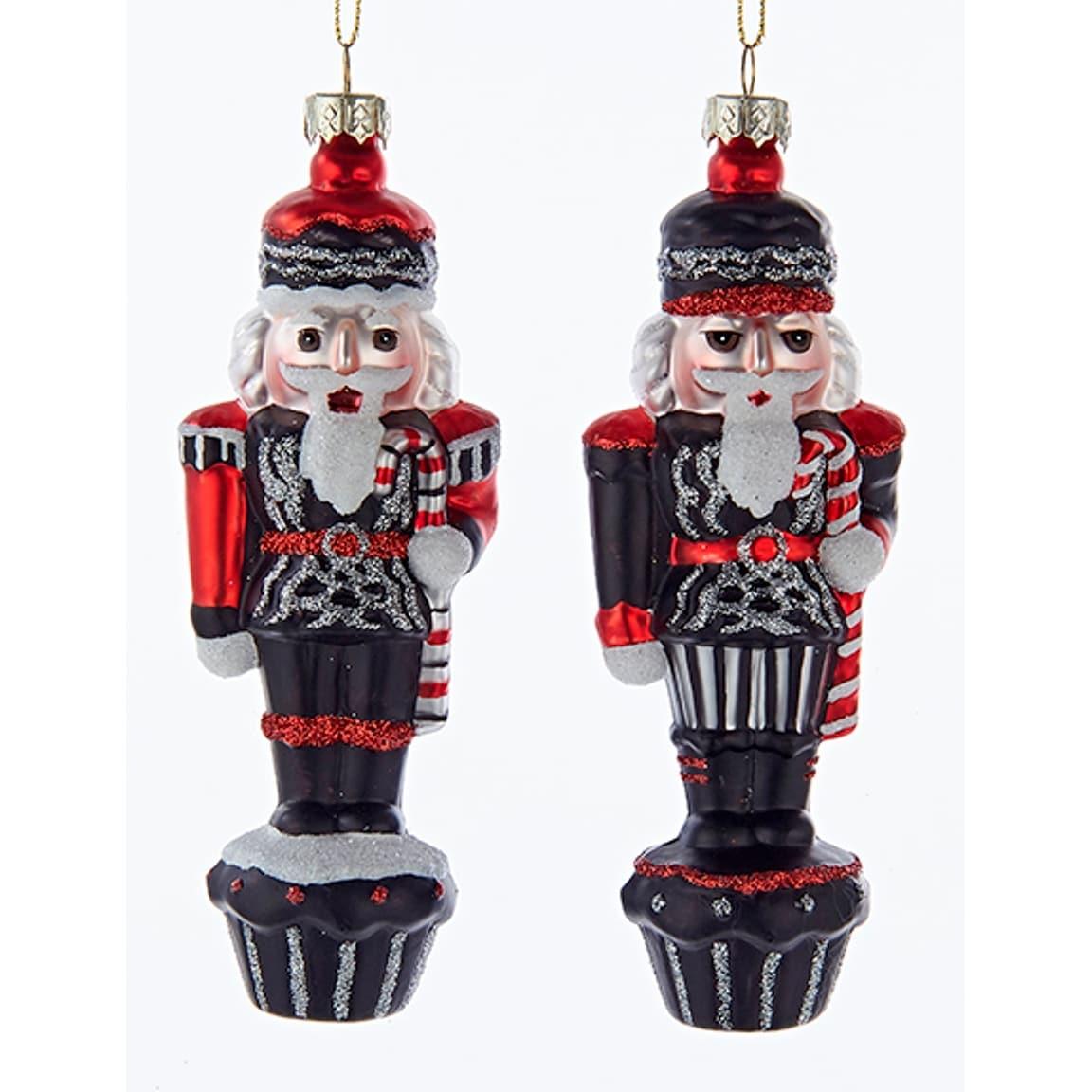 Shop Kurt Adler Chalkboard Black Red Nutcrackers Holiday Ornaments ...