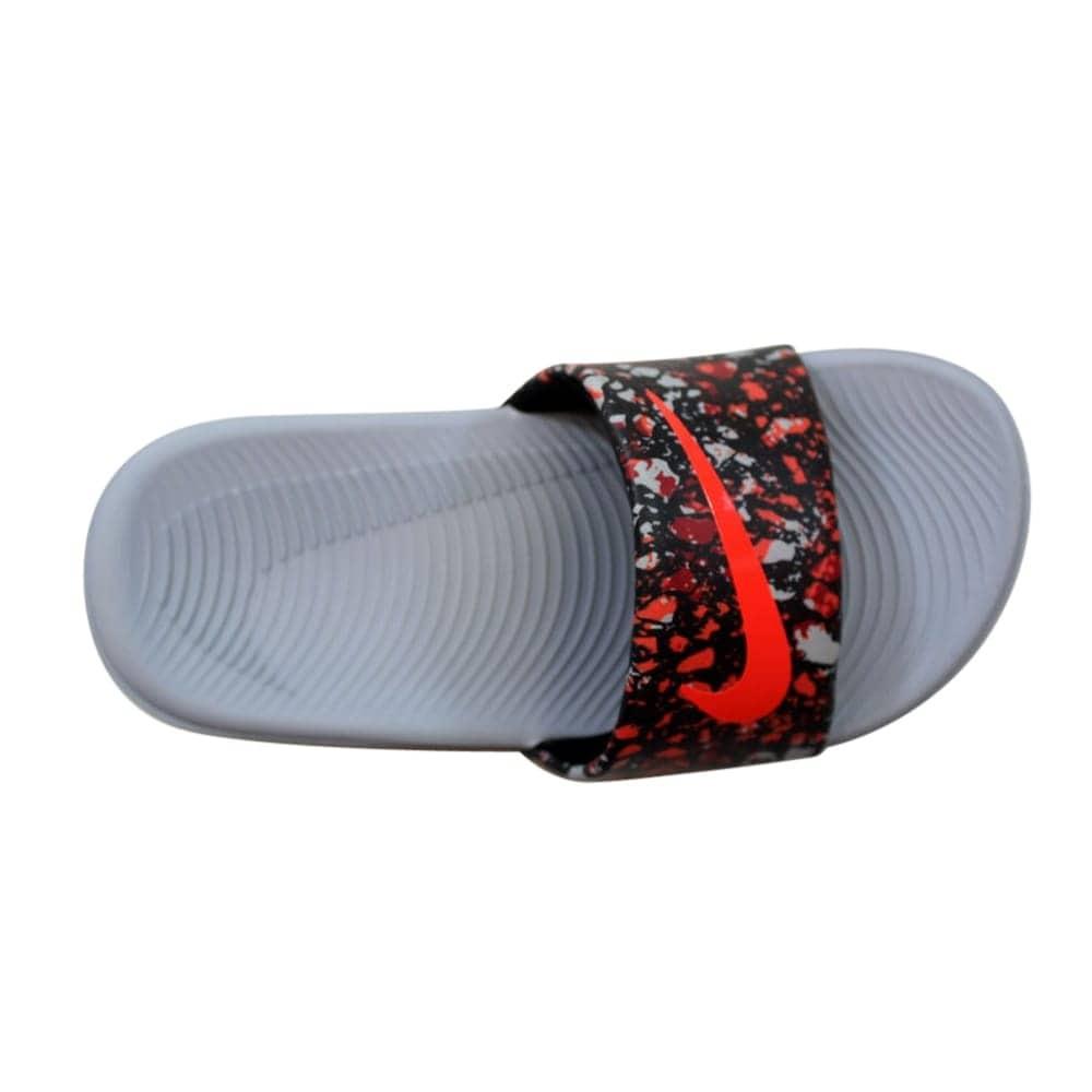 ebd324b52 Shop Nike Kawa Slide Print Black Bright Crimson-Wolf Grey Pre-School  819358-005 Size 12 Medium - Free Shipping On Orders Over  45 - Overstock -  27601014