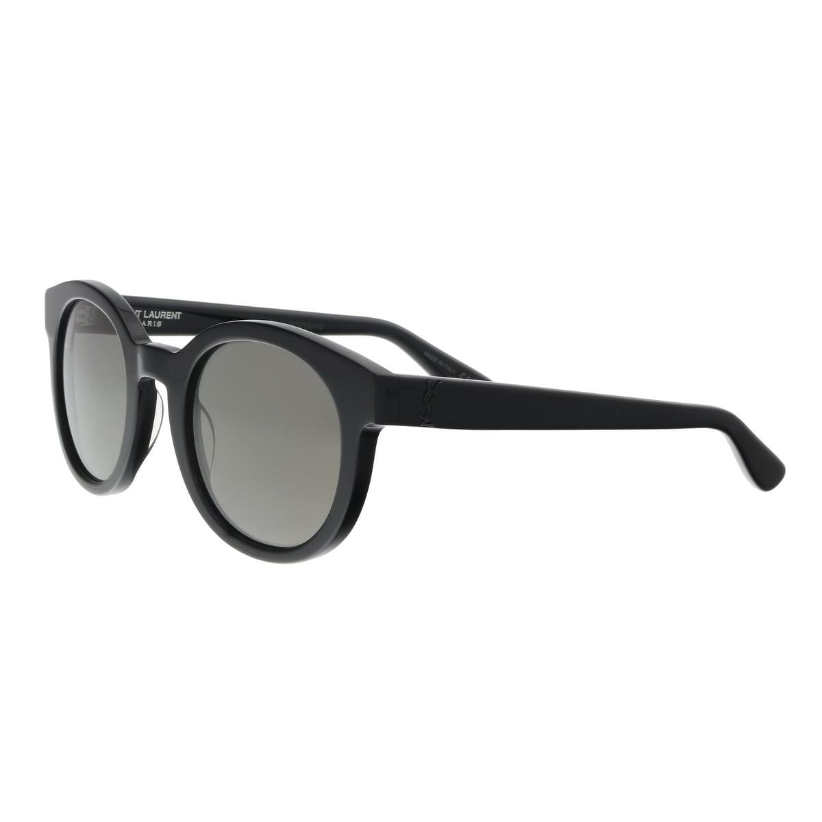 49cc2d0690d6 Shop Saint Laurent SL M15-001 5 Black Round Sunglasses - 51-24-145 ...