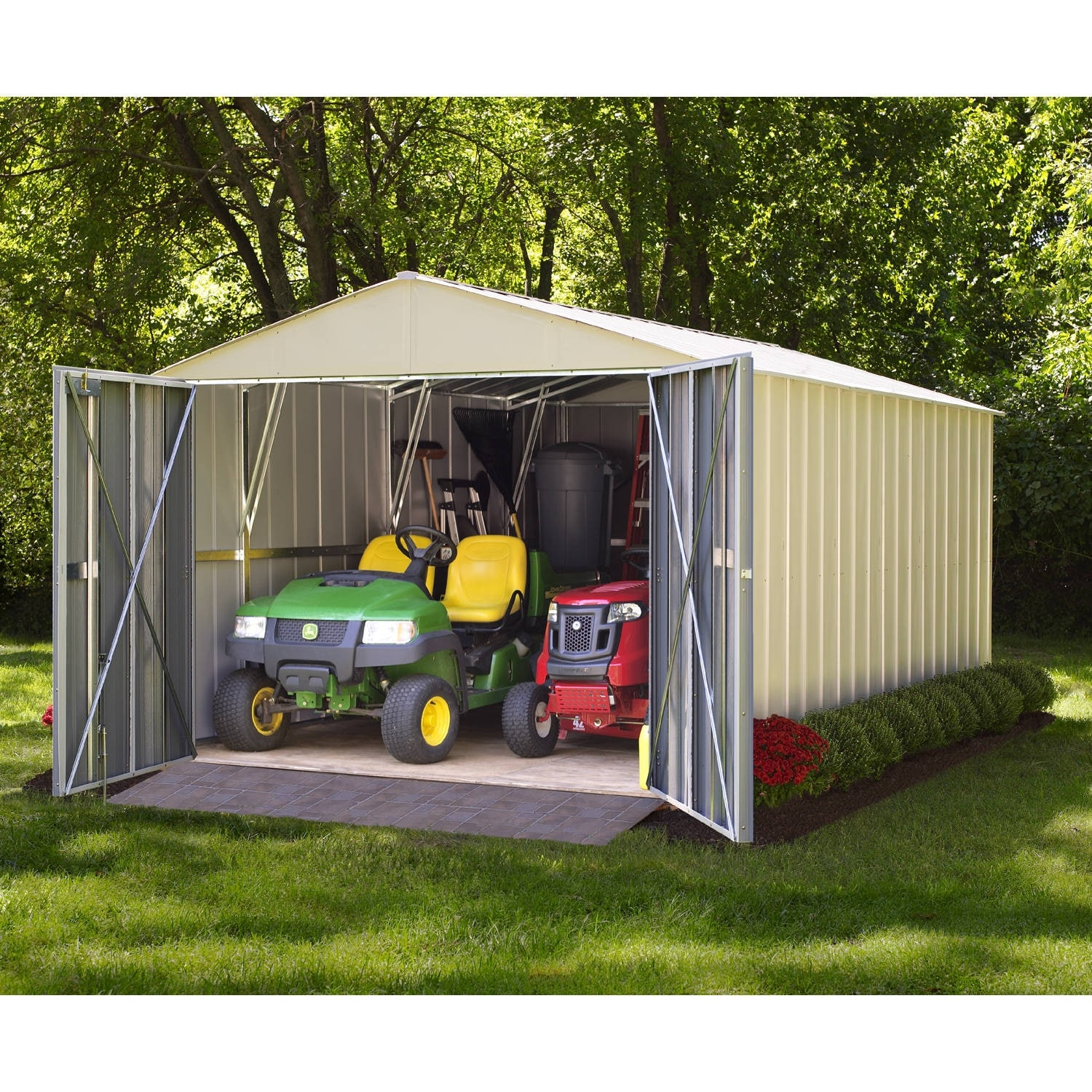 utility shed and with garden door city double windows wide sheds wk s center nursery richard comes