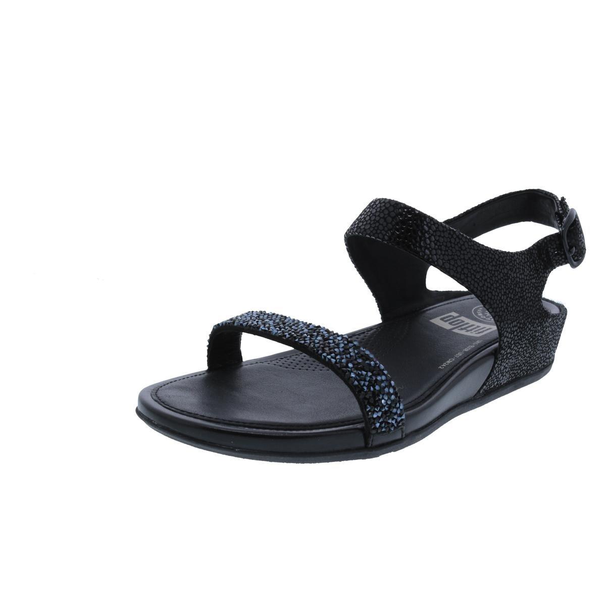 05e86e40a Fitflop Womens Banda Roxy Wedge Sandals Open Toe Embellished - 7 medium  (b