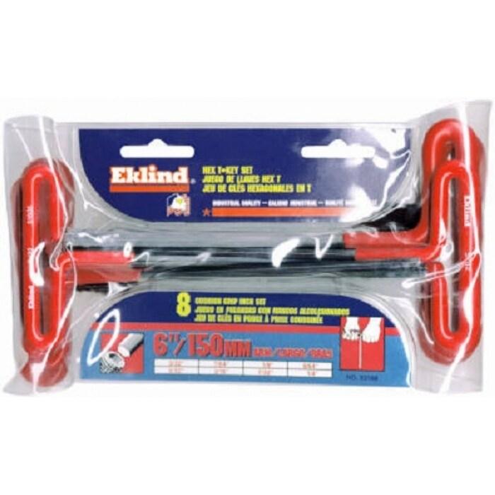 EKLIND TOOL 55166 Tool Company 6 Piece 6 Cushion Grip Metric T-Handle Hex Key Set