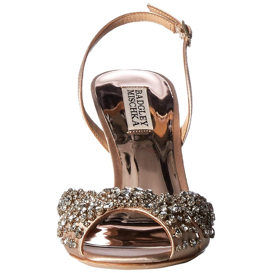 b703306e3d3 Shop Badgley Mischka Women s Paula Heeled Sandal - Free Shipping Today -  Overstock - 27348567