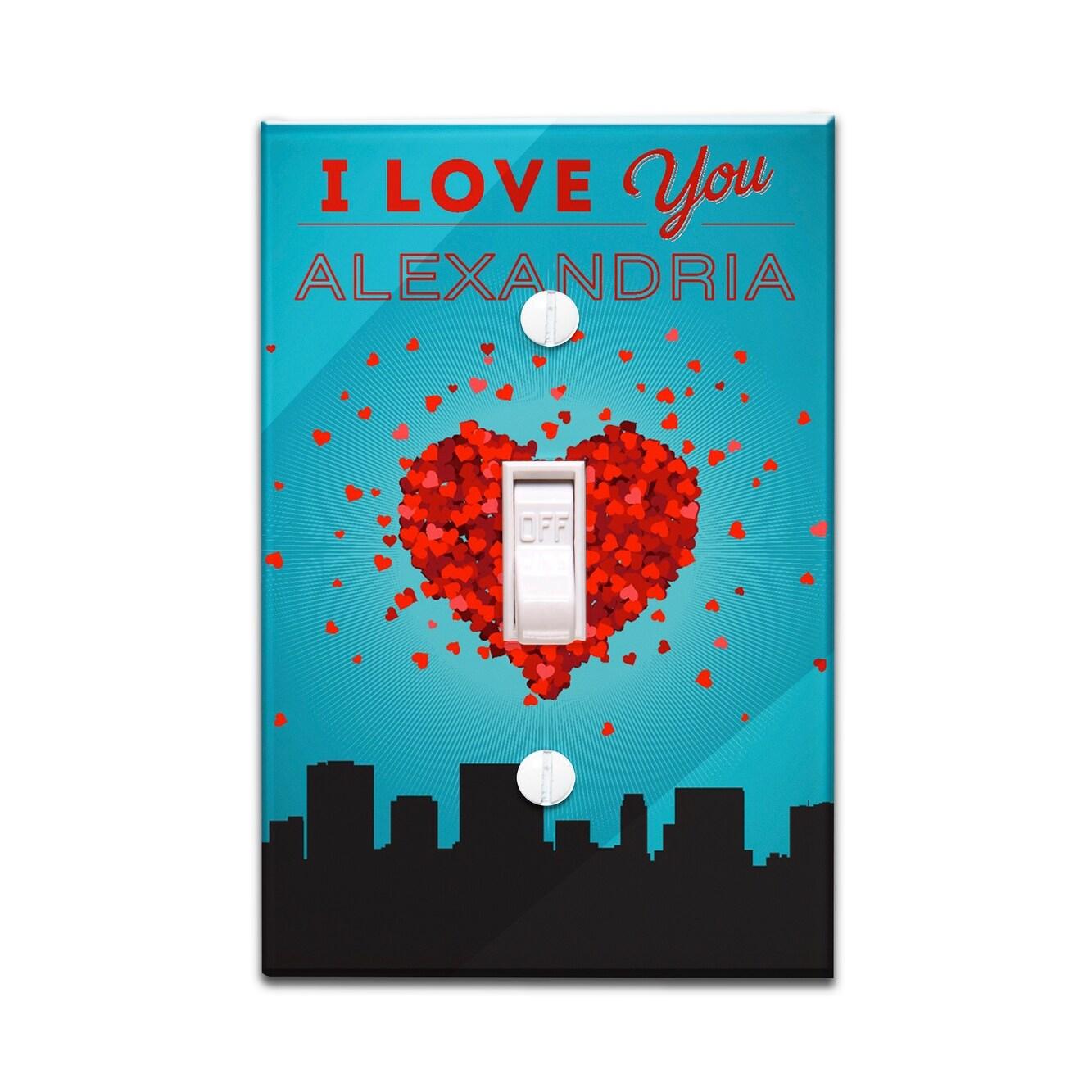 Shop I Love You Alexandria, Virginia - LP Artwork (Light Switchplate ...