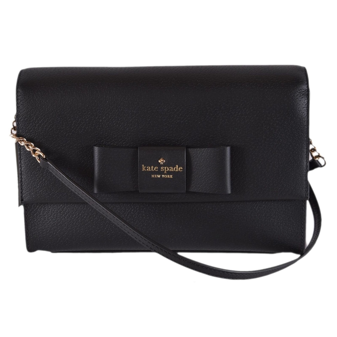 Kate Spade Black Leather Robinson Street Zanni Crossbody Bag Purse - 10.5
