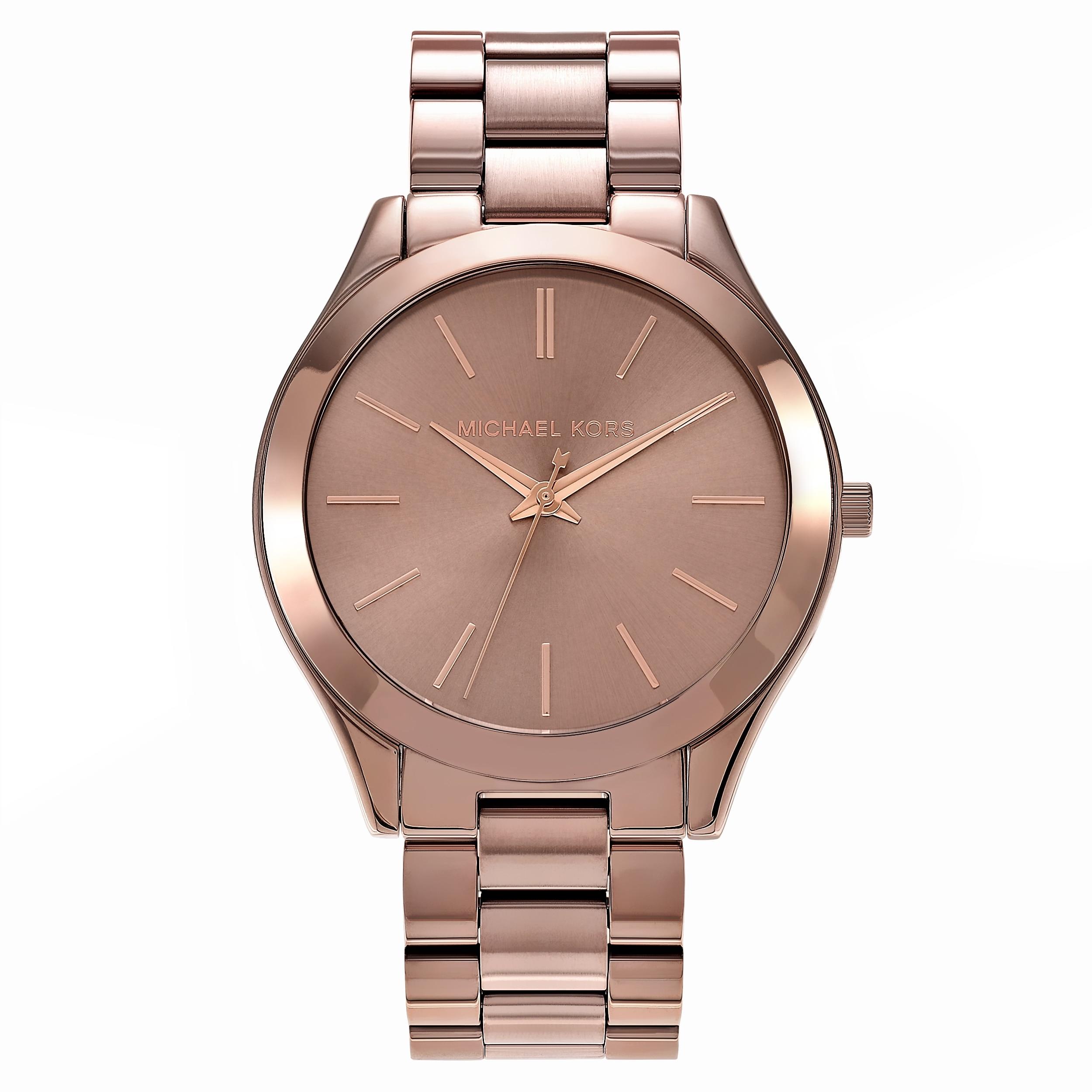 404af7124a370 Michael Kors Women's 'Runway' MK3418 Stainless Steel Sable Dial Bracelet  Watch