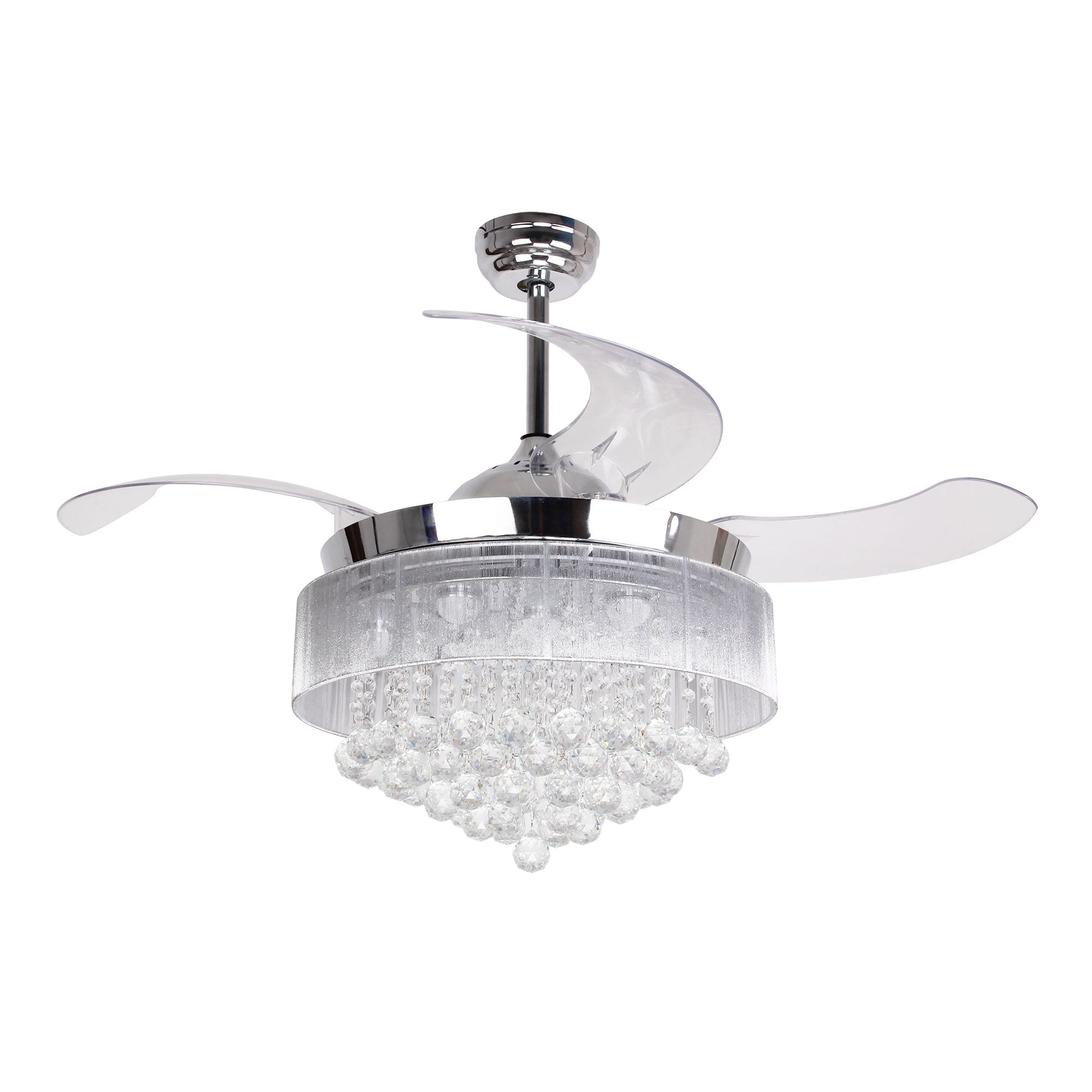 Shop 425 foldable blades led ceiling fan with crystal chrome shop 425 foldable blades led ceiling fan with crystal chrome free shipping today overstock 19404011 aloadofball Image collections