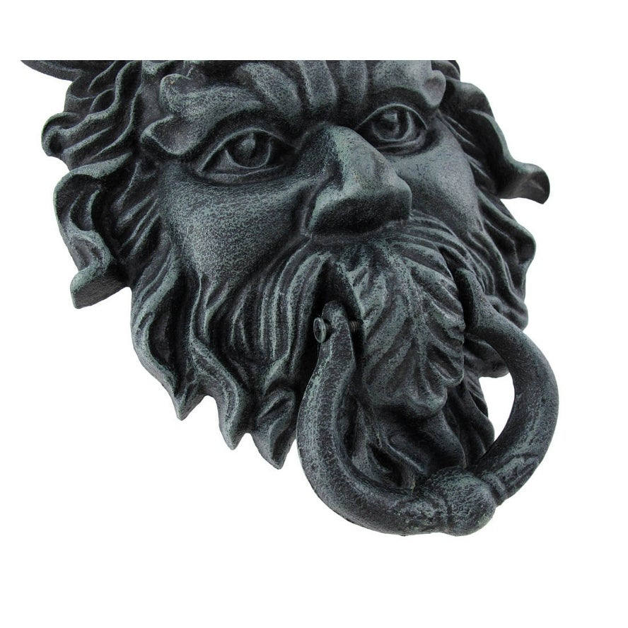 Verdigris Finish Cast Iron Celtic Greenman Door Knocker   Free Shipping On  Orders Over $45   Overstock   23229510