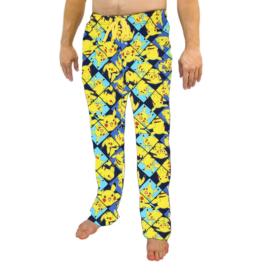 9a11aef446 Shop Pokemon Pikachu All Over Print Men's Sleep Pants - Free Shipping On  Orders Over $45 - Overstock - 17168484