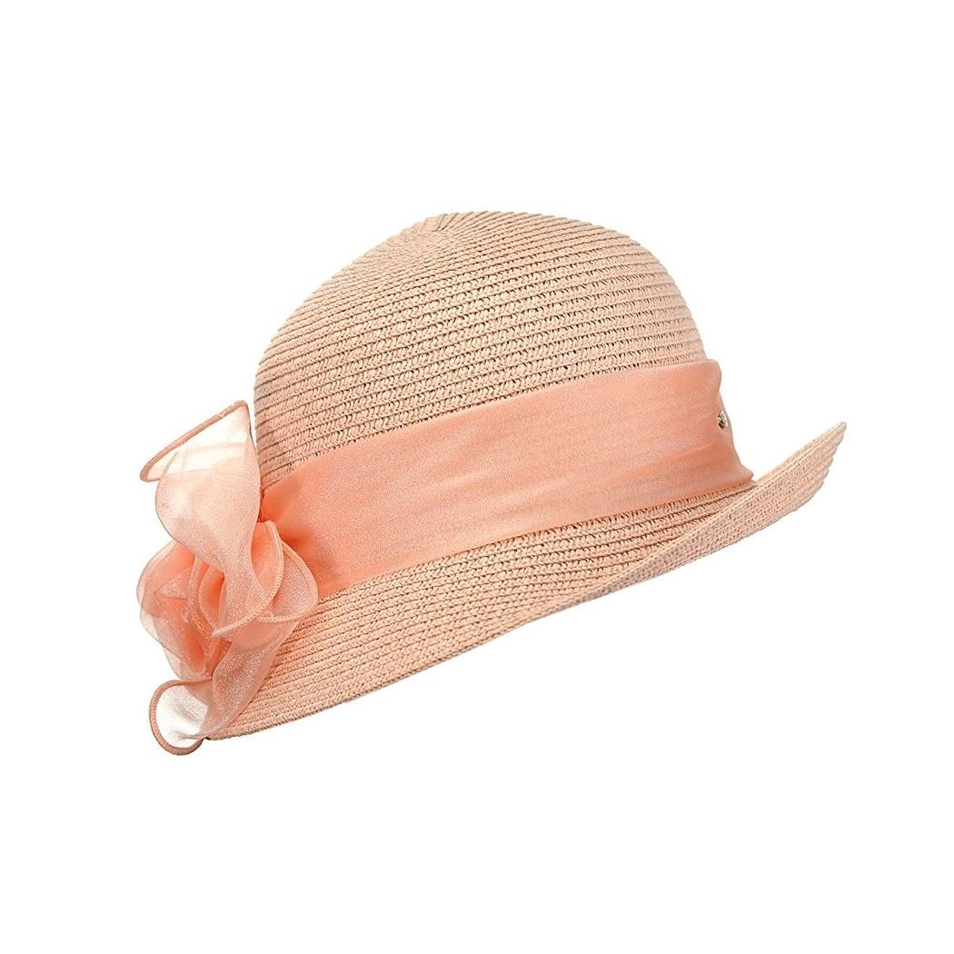 Gravity Threads Satin Ribbon Triple Rose Brim Cloche Bucket Hat