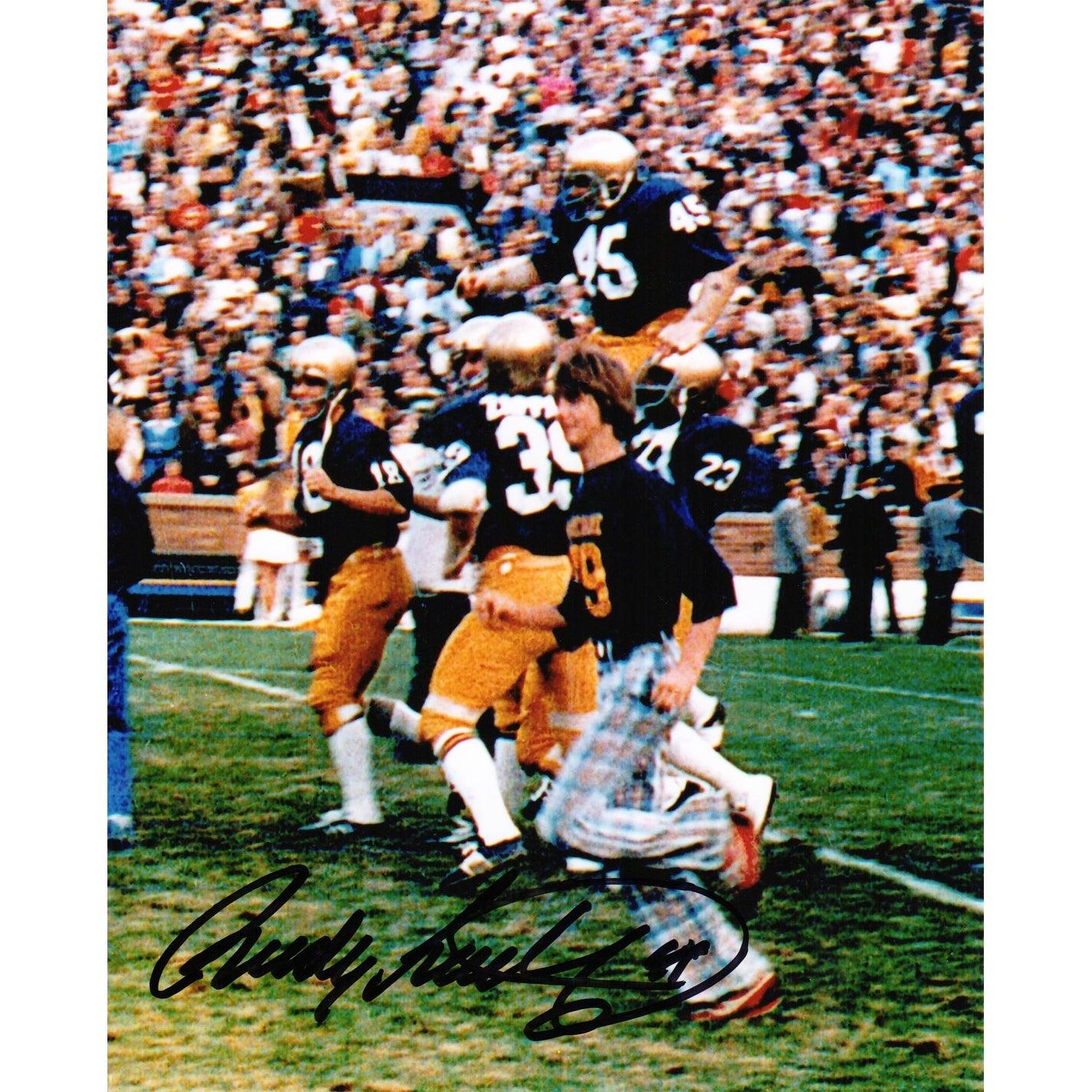Shop Rudy Ruettiger Notre Dame Carried Off Football Field 8x10 Photo