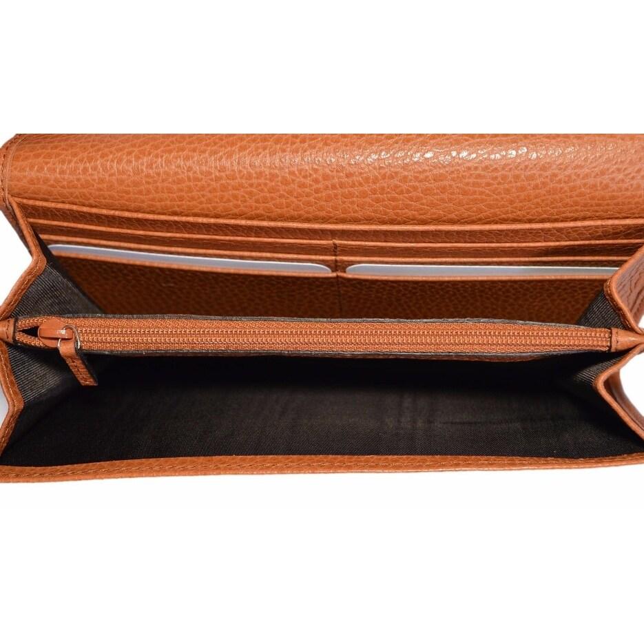 71a73af333a9 Shop Gucci Women's 346058 Saffron Tan Leather Continental Bifold Wallet -  7.5
