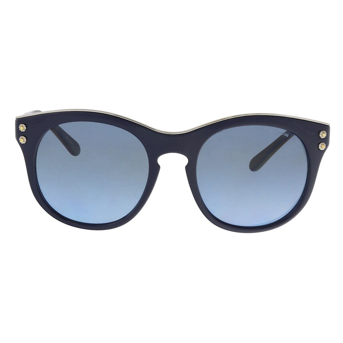 d37fc3f2bd62 Shop Coach HC8190 542217 Navy Round Sunglasses - 51-19-140 - Free Shipping  Today - Overstock - 21158653
