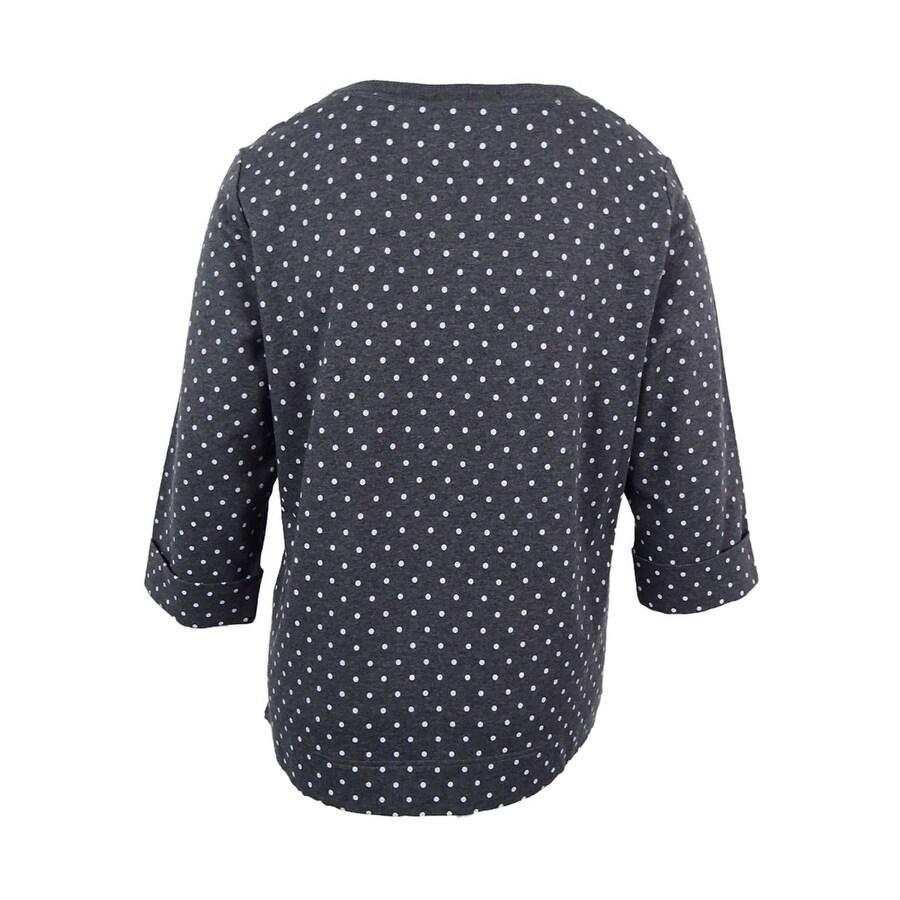 Black And White Polka Dot Blouse Plus Size   AGBU Hye Geen