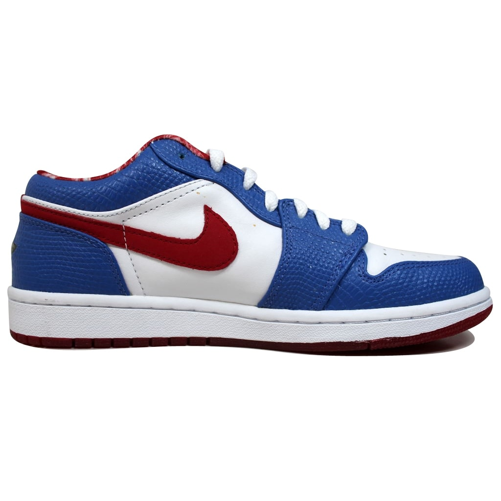 97113b6459af Shop Nike Men s Air Jordan I 1 Retro Low White Varsity Red-Varsity Royal East  Side 309192-161 Size 8.5 - Free Shipping Today - Overstock - 19507871