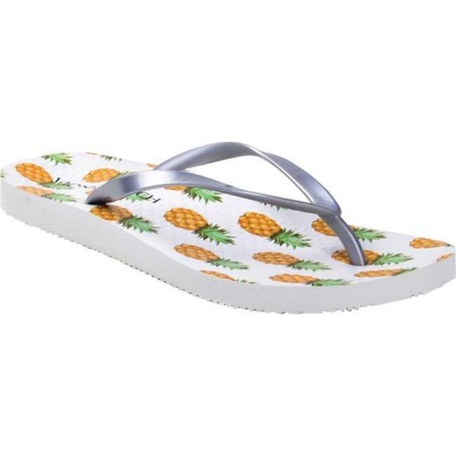 50750a309d39 Shop Vionic Women s Noosa Flip Flop Sandal Silver Pineapple - Free ...