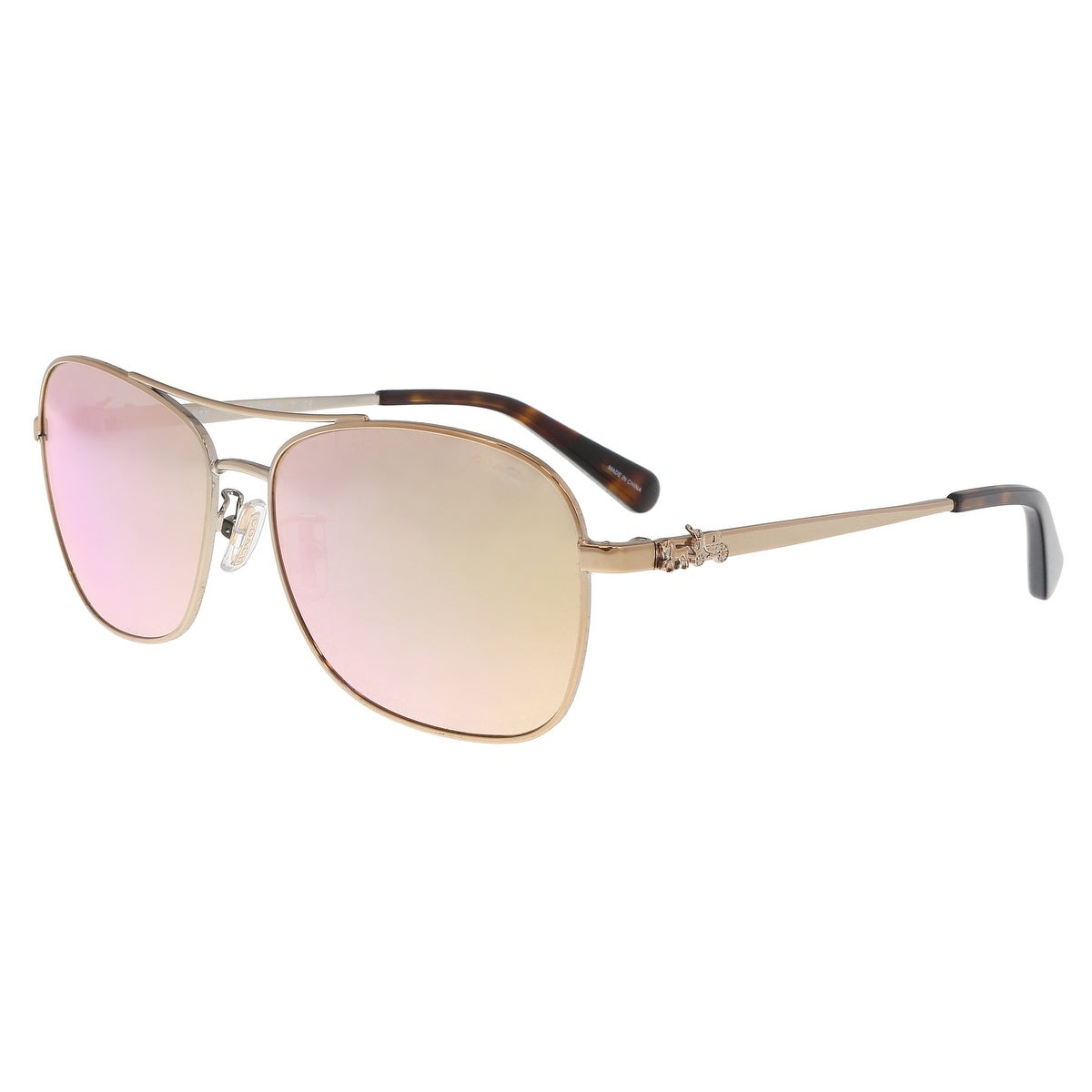 7f09e8741 ... coupon shop coach hc7080 9323r5 rose gold aviator sunglasses 55 15 140  free shipping today overstock ...