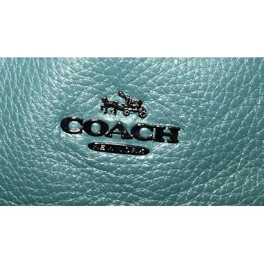 9cf4a426dc0 Shop Coach NEW Green Dark Turquoise Pebble Leather Taylor Tote Bag Purse -  Free Shipping Today - Overstock.com - 20298217