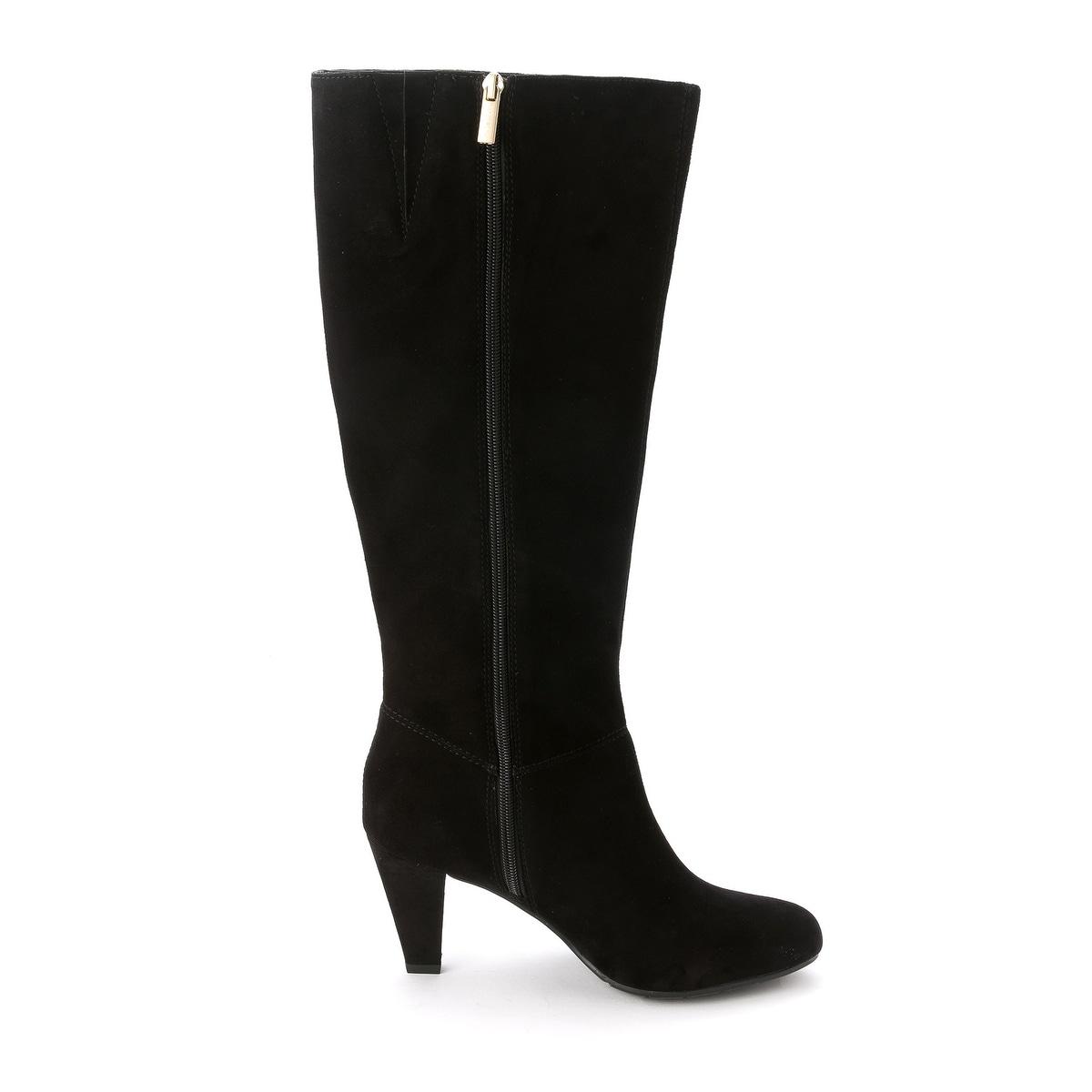 fd637dca0e3 Bandolino Womens BACIA Suede Round Toe Mid-Calf Riding Boots