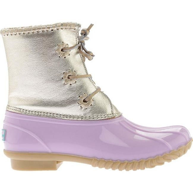9d9806293dd Shop Jack Rogers Women s Chloe Duck Boot Lilac Metallic Leather Rubber -  Free Shipping Today - Overstock - 19408305
