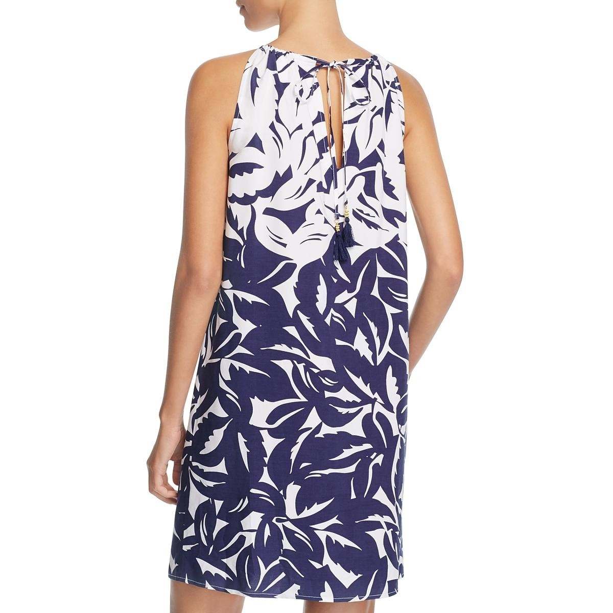 86ebd8e85d Shop Tommy Bahama Womens Graphic Hi Neck Dress Swim Cover-Up - Free  Shipping Today - Overstock - 21150349