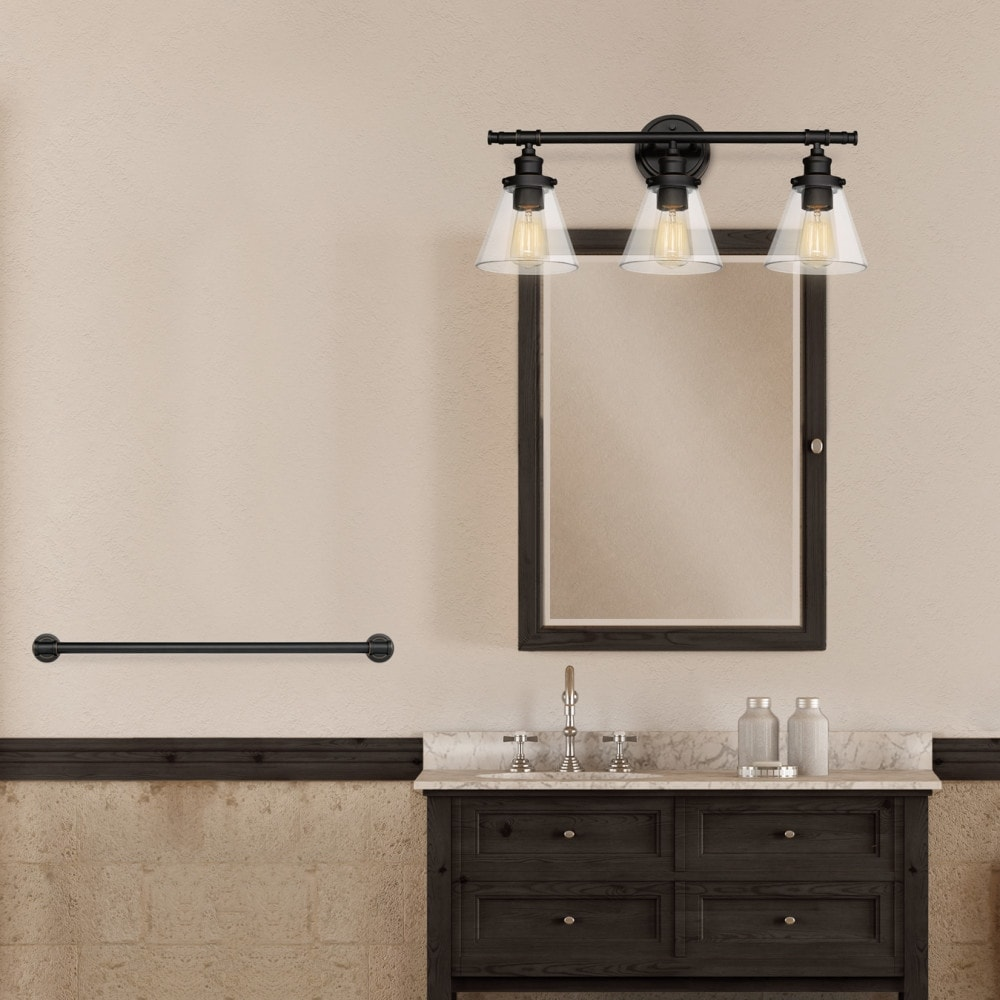 Globe Electric 50192 Parker All In One Bathroom Vanity Light With Towel Bar Ring Toilet Paper Holder And Robe Hook Free Shipping Today