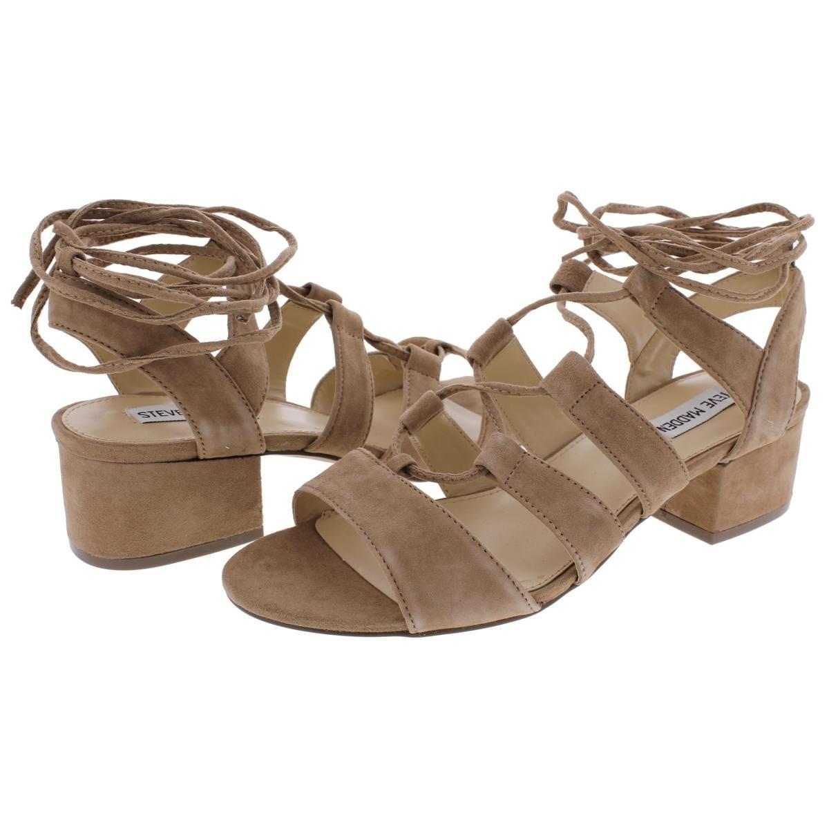 fa4d4f46e40 Steve Madden Womens Kittyy Dress Sandals Open Toe Block Heel