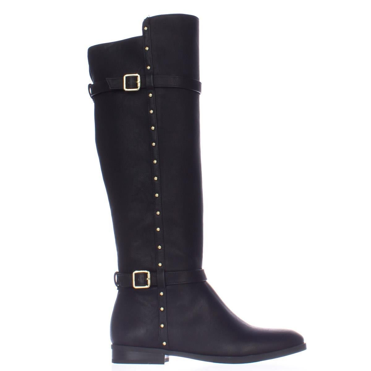 54e1ec90 I35 Ameliee Side Studded Knee High Boots, Black