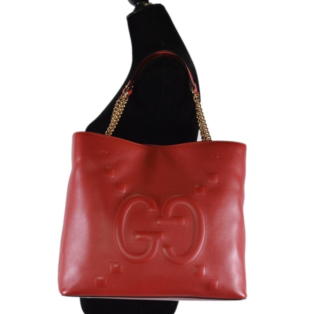 48e63b6d2b25 Shop Gucci Women's 453561 Red Leather GG Original Apollo Purse Tote Handbag  - On Sale - Free Shipping Today - Overstock - 25978228