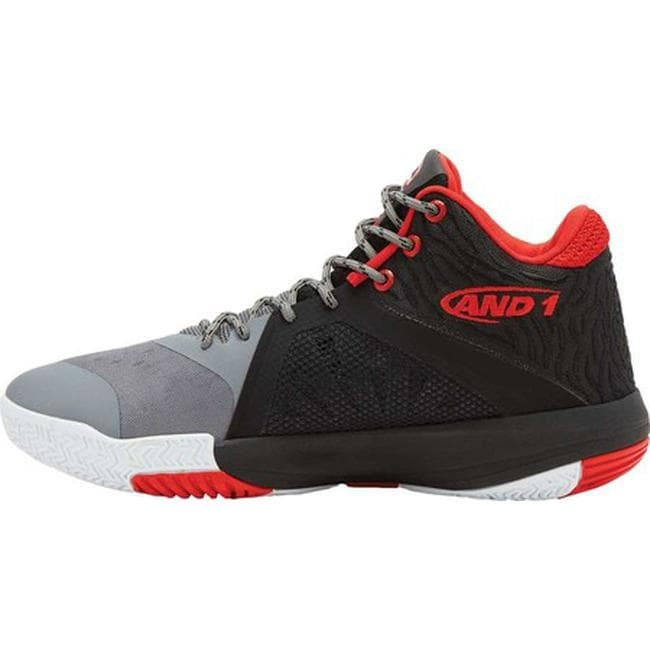 411379e992f Shop AND1 Men s Attack Mid Basketball Shoe Grey Black Red - On Sale - Free  Shipping Today - Overstock - 21152962