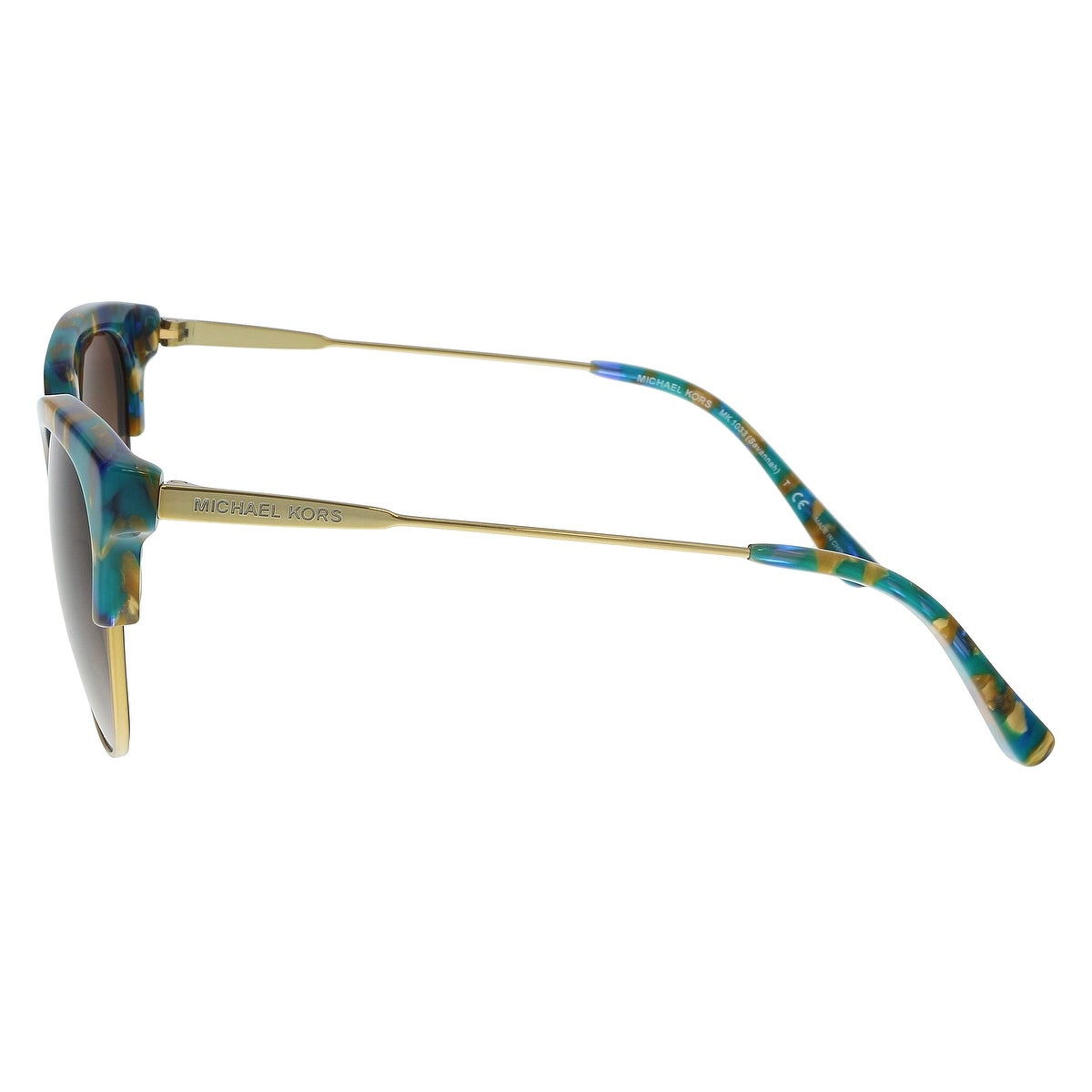 c63829a150d9 Shop Michael Kors MK1033 334413 Teal Mosaic / Pale Gold Cat eye Sunglasses  - 54-18-140 - Free Shipping Today - Overstock - 21164051