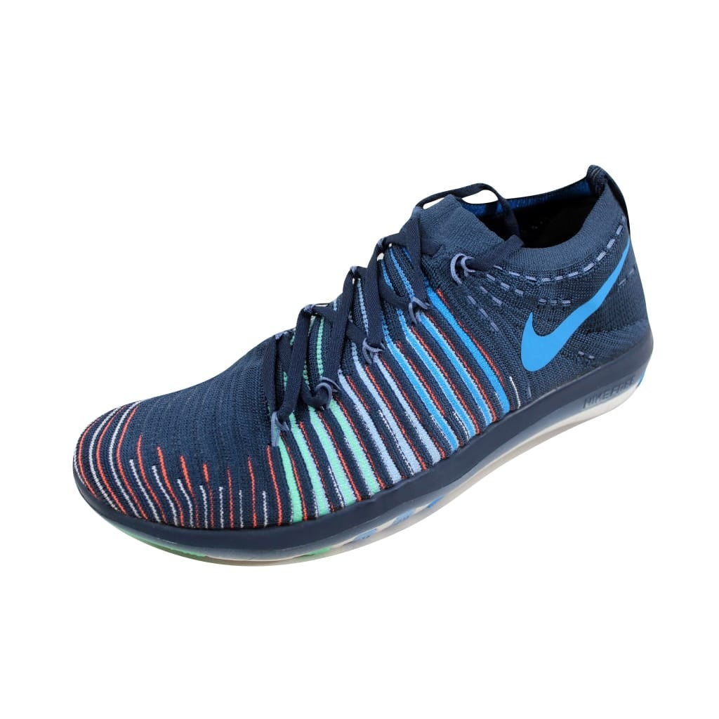 1f295532eb33 Shop Nike Free Transform Flyknit Squadron Blue Blue Glow-Green Glow-Summit  White 833410-402 Women s - On Sale - Free Shipping Today - Overstock -  22919477