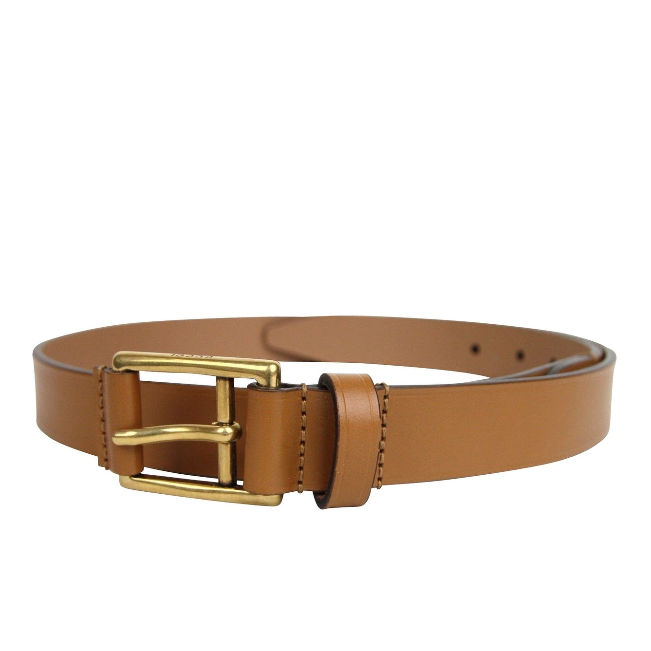9fab6042fc1 Shop New Gucci Men s Feather Light Brown Leather Belt Gold Buckle Detail  375182 2613 - Free Shipping Today - Overstock - 25455624