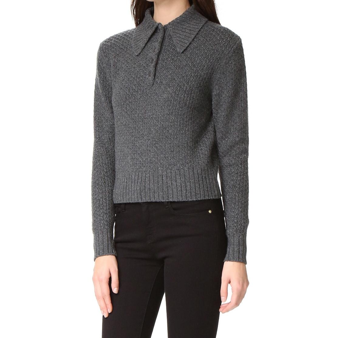 Shop Frame Shirt Womens Henley Collared Wool Sweater Free