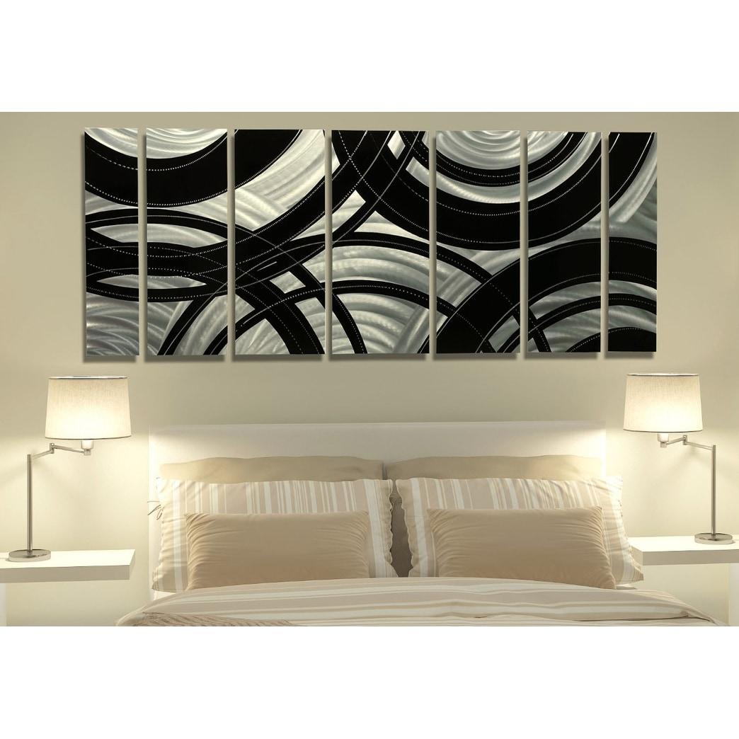 Shop statements2000 black silver abstract modern metal wall art panels by jon allen crossroads free shipping today overstock com 12447212