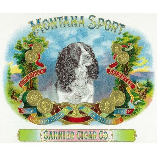 Original Vintage Montana Sport Cigar Label Garnier Cigar Company Unused