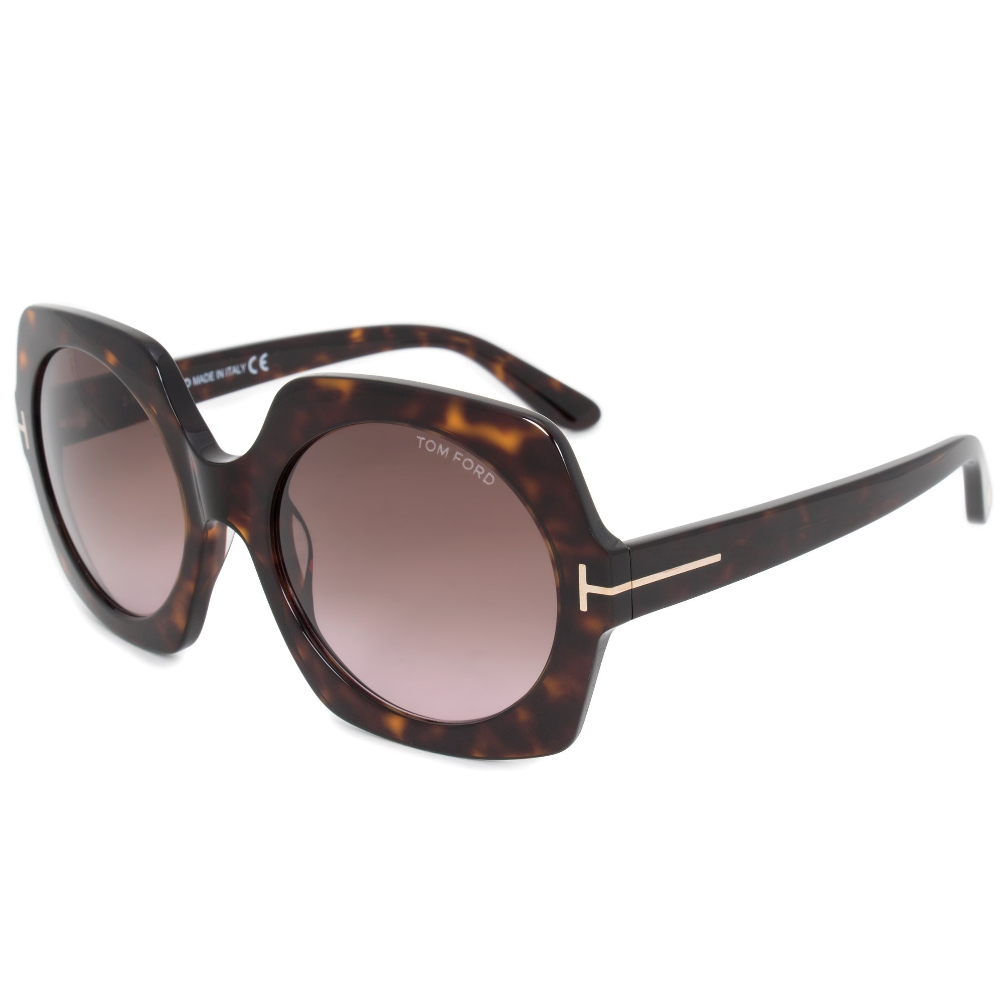 cfddbcbe15 Shop Tom Ford Sofia Round Sunglasses FT0535 52T 57 - Free Shipping Today -  Overstock - 21408566
